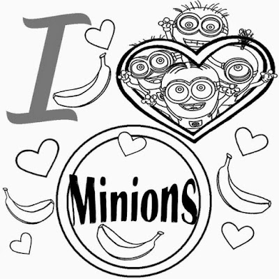 Minions Coloring Page For Kids