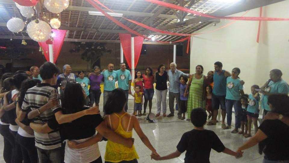 O Grupo da RCC Água Cristalina Comemora mais uma Festividade de Natal