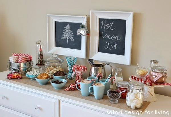 5 favorite Christmas Wonderful Links hot cocoa station