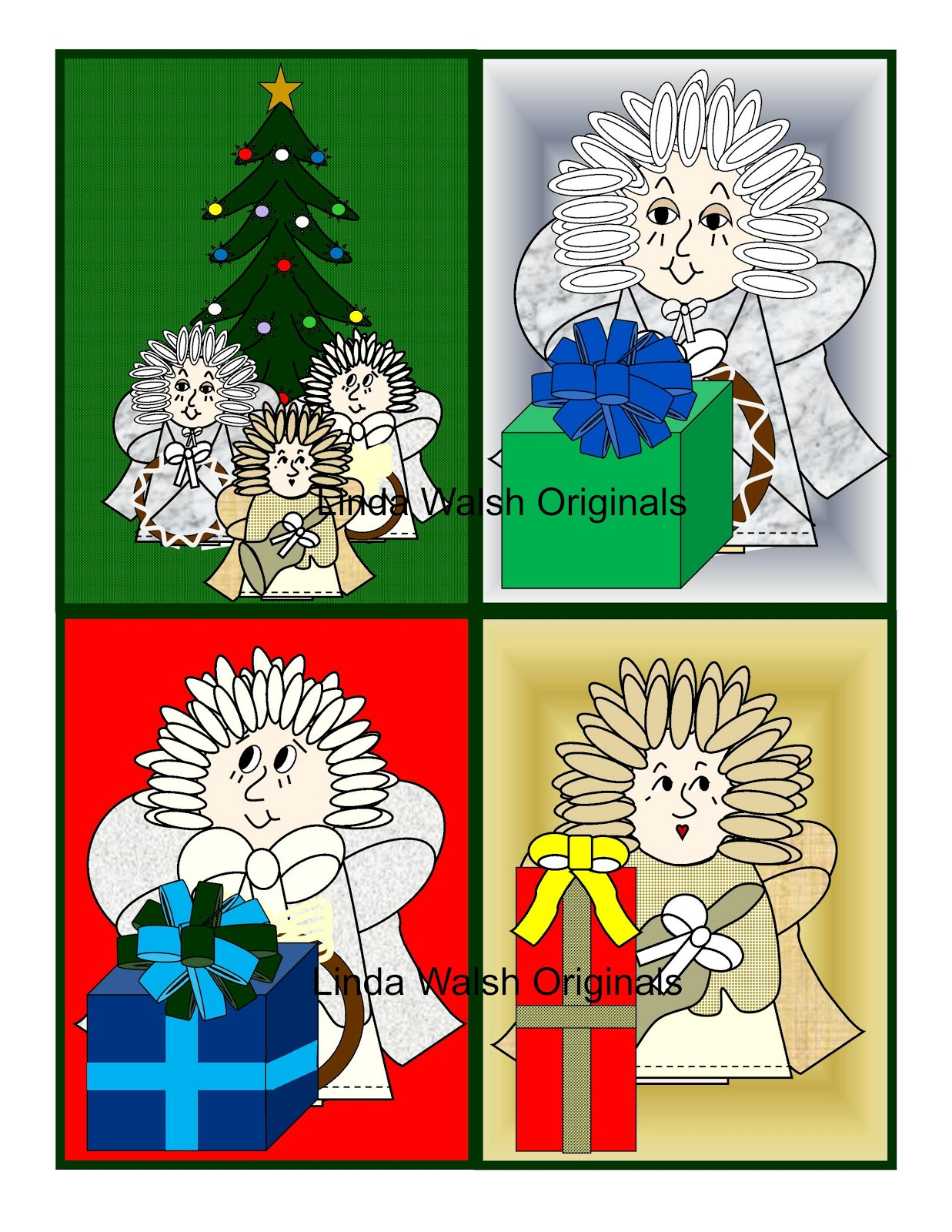 Trio Of Angels Free Printable Trading Cards