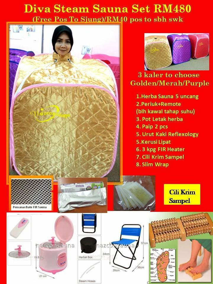 Set Sauna Di Rumah DIVA SET SAUNA RM480