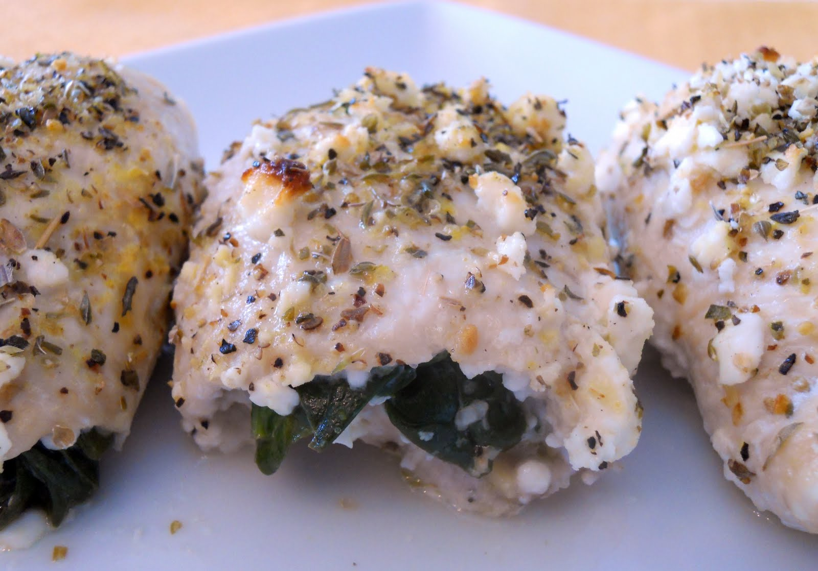 Southern Pink Lemonade: Spinach and Feta Stuffed Chicken Breasts
