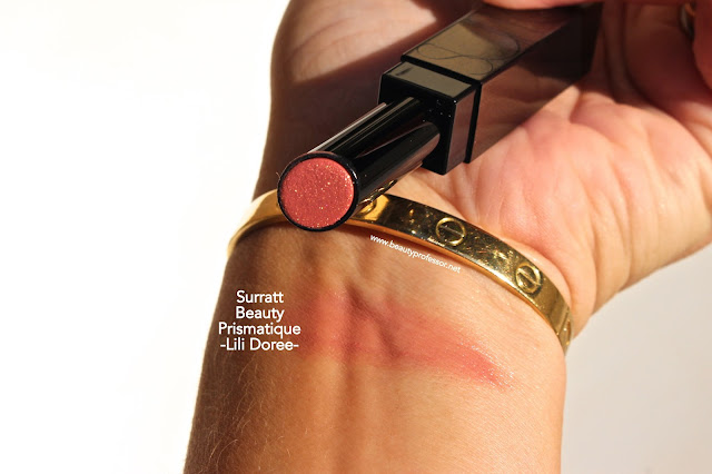surratt prismatique lip lili doree swatches