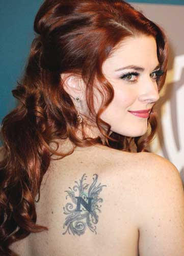 celebrity name lettering tattoo design