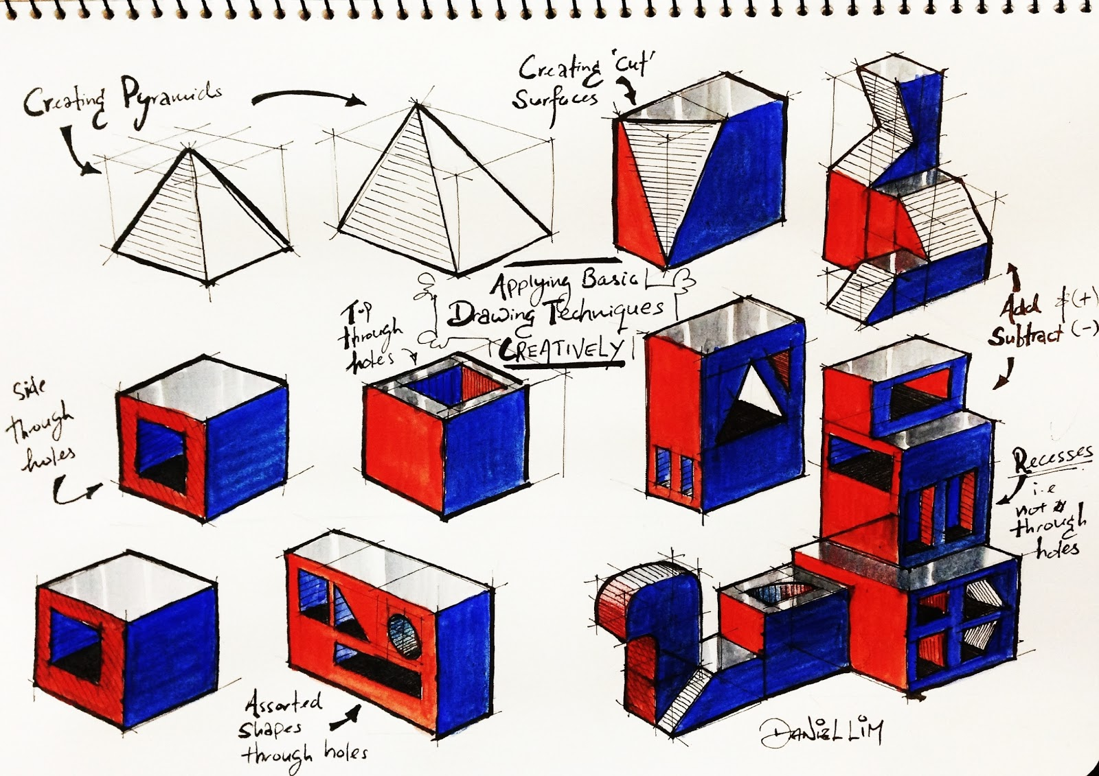 how to draw isometric drawings by hand
