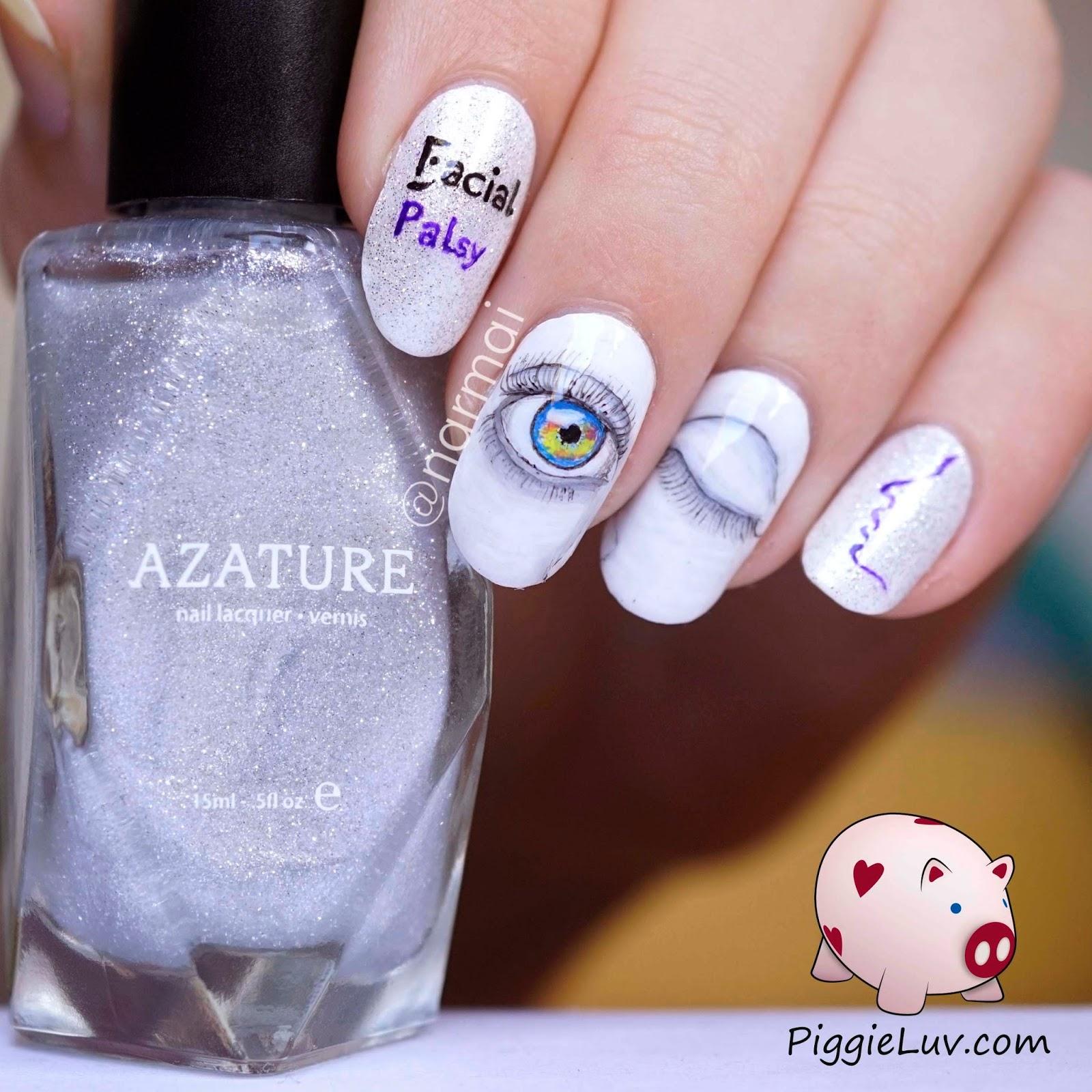 PiggieLuv: Facial Palsy Awareness nail art