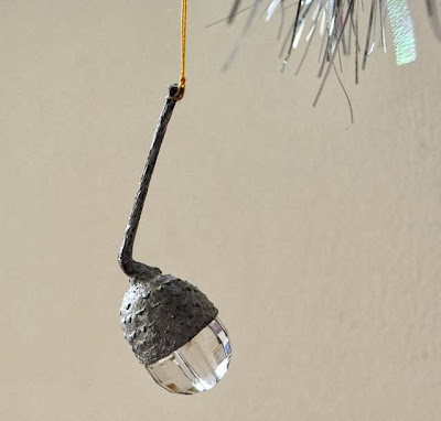 glass bead acorn decoration