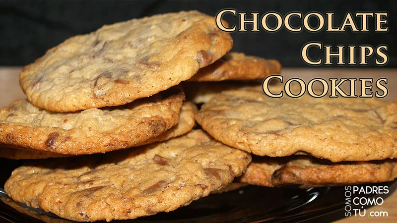 receta de cookies con trocitos de chocolate