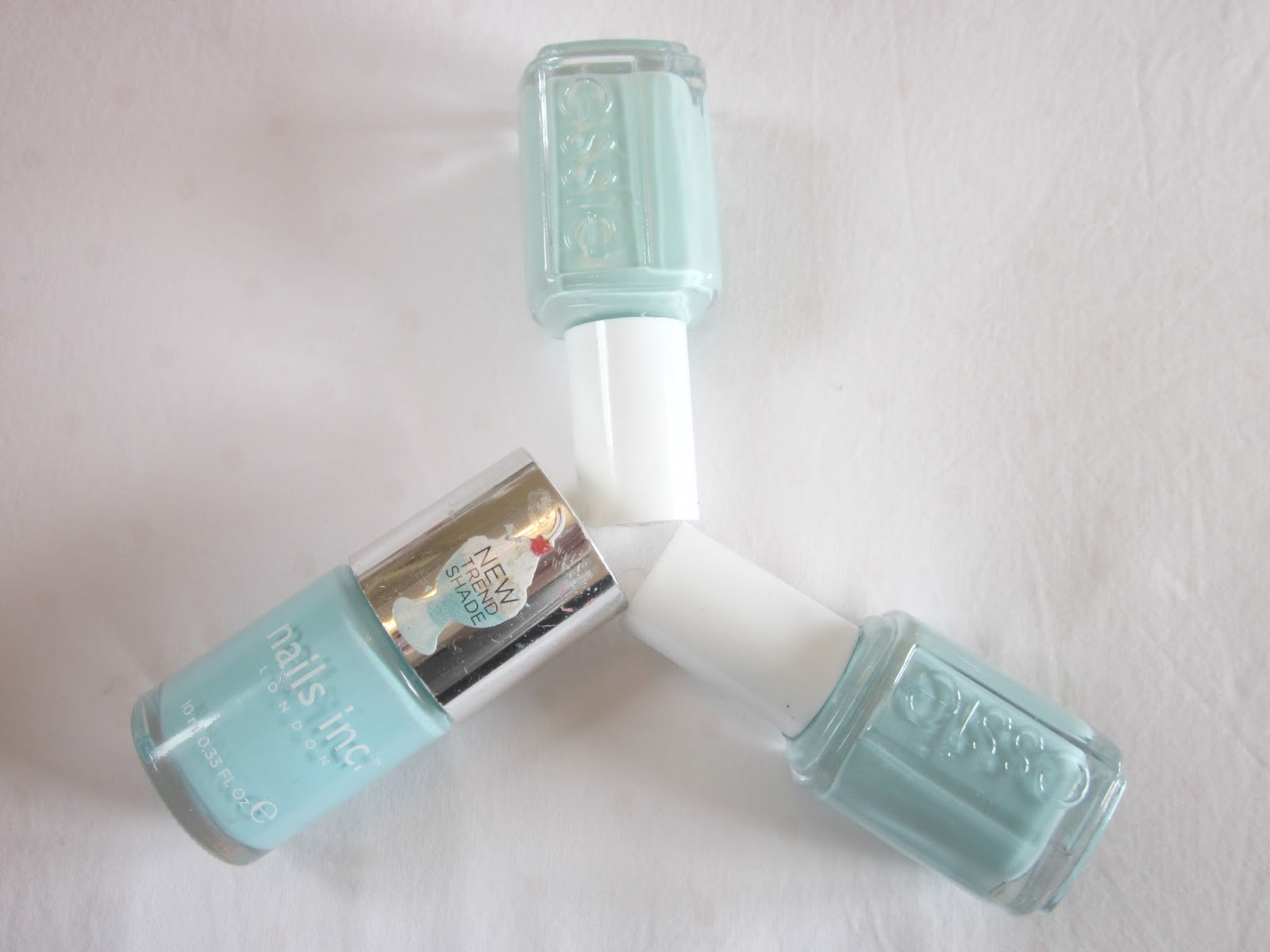 mint nails spring pastels