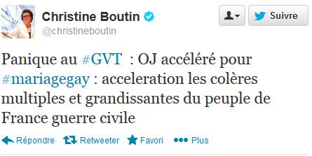 Tweet Christine Boutin