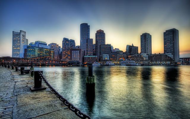 Boston City at Dusk
