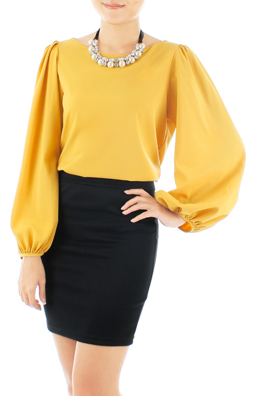 Fiesta Long Sleeve Blouse – Canary Yellow