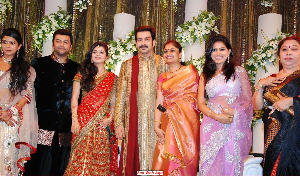 Samvritha Sunil Marriage Reception Photos With Prithviraj More