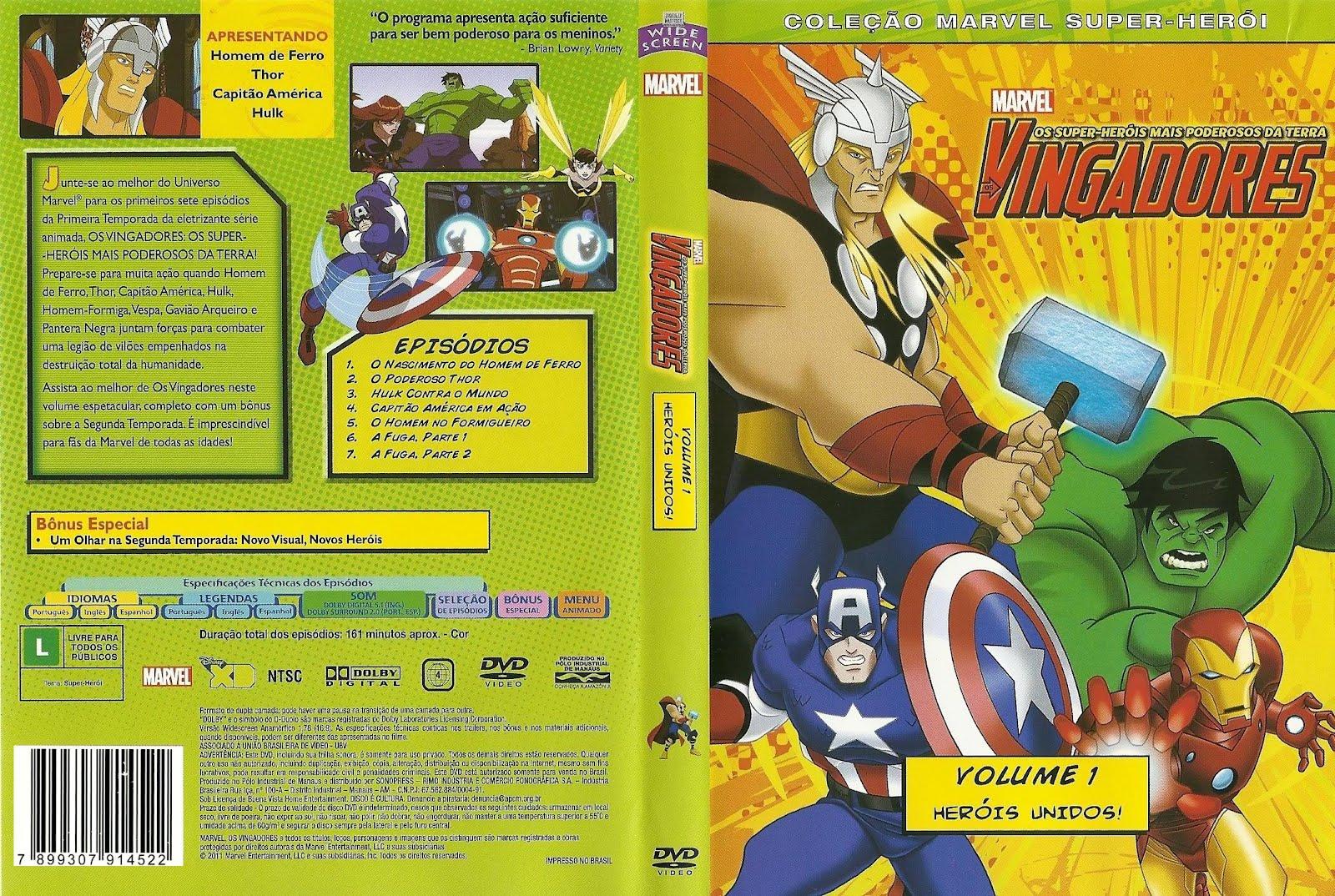 Os Vingadores Heróis Unidos Vol. 1 DVDRip RMVB Dublado Vingadores 2B  2BHer 25C3 25B3is 2BUnidos 2BVol
