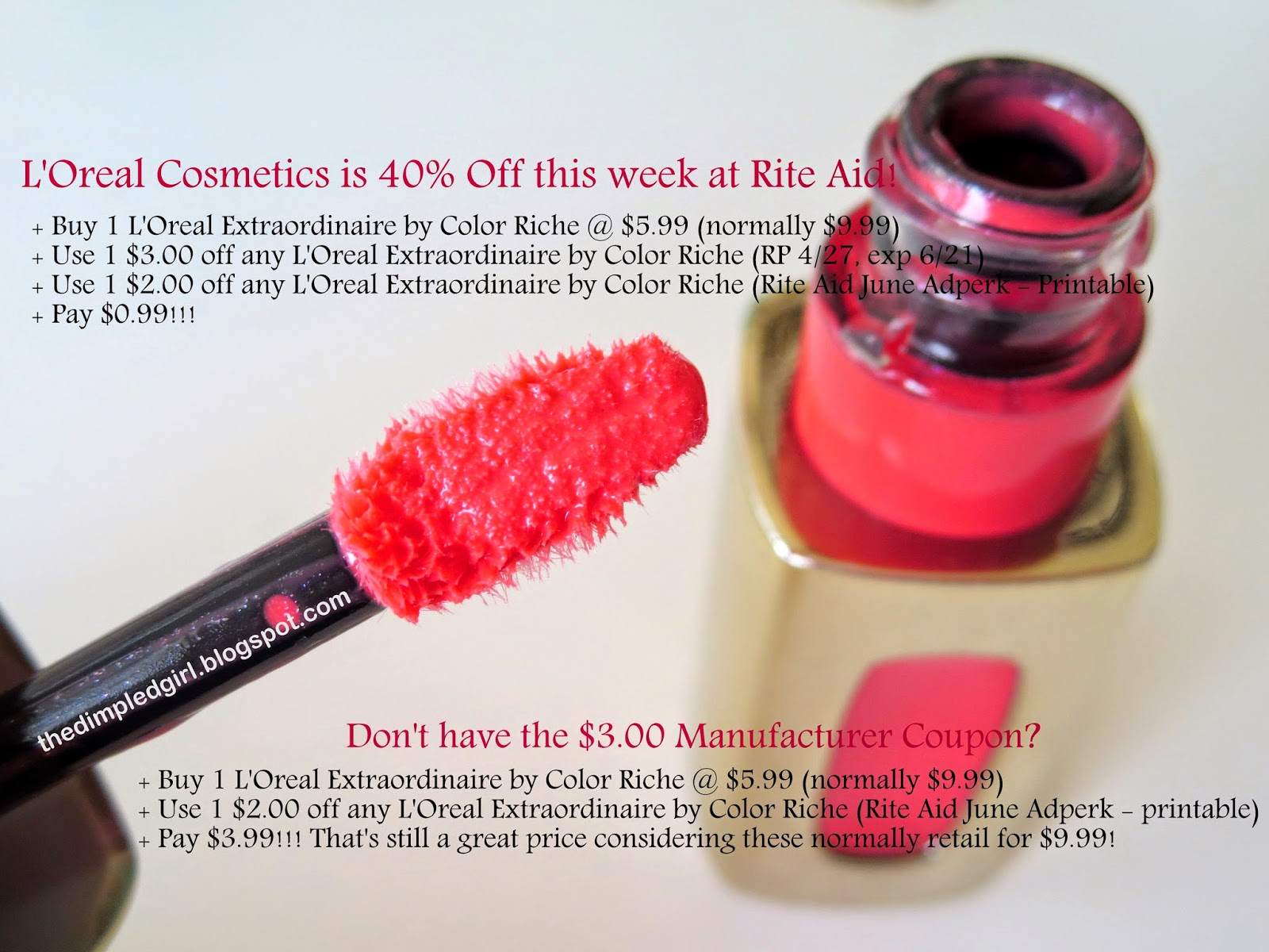 The Dimpled Girl: DEAL: L'Oreal Extraordinaire for as low as $0.99 ...