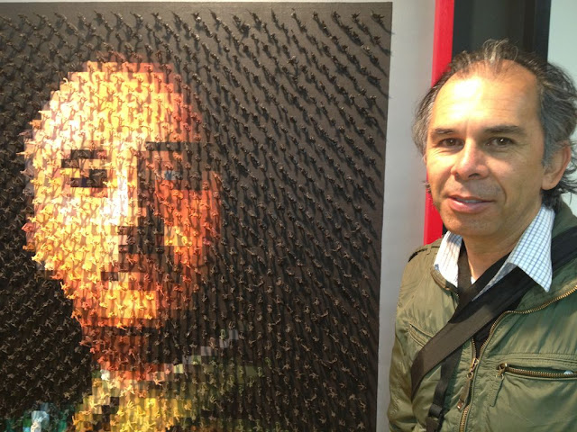 Franco' tin soldiers portrait and author Carlos Azeredo