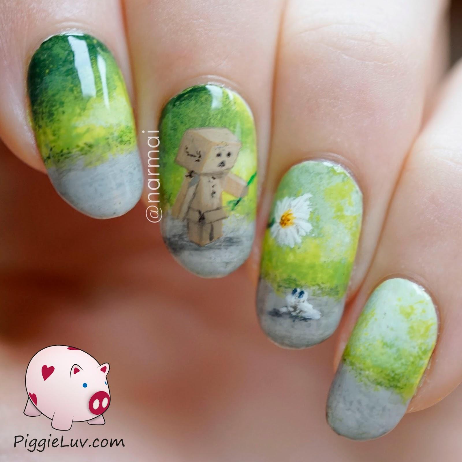 PiggieLuv: Danbo nail art, the cutest little robot