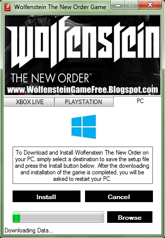 To Download and Install Wolfenstein The New Order game crack on your PC, si