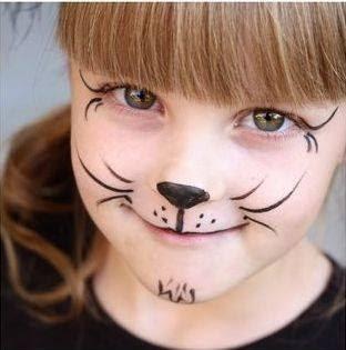 M s y m s manualidades maquillaje de fiesta para ni os for Como pintar puertas placas nuevas