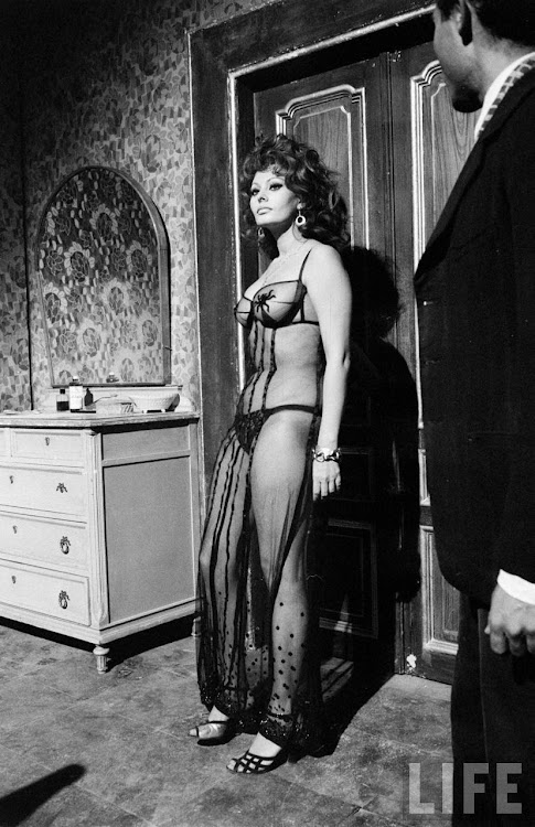 Sophia Loren in the Movie Marriage Italian Style - 1964