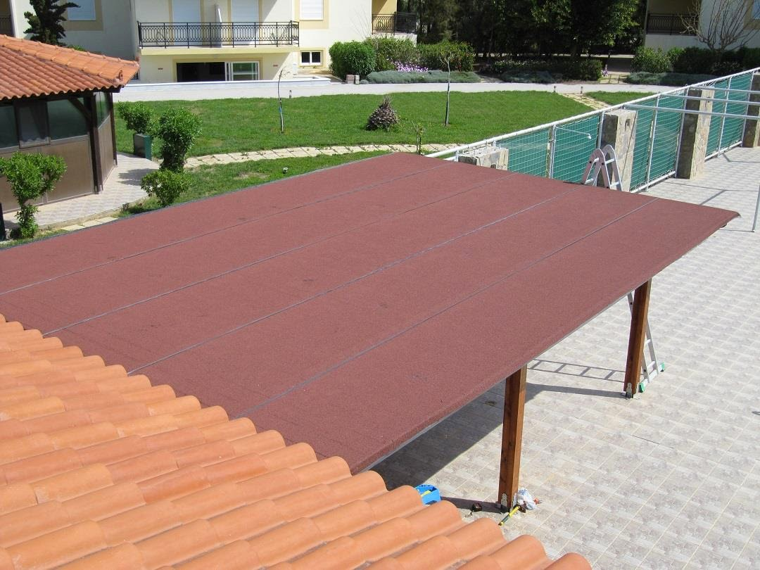 low-slope roof