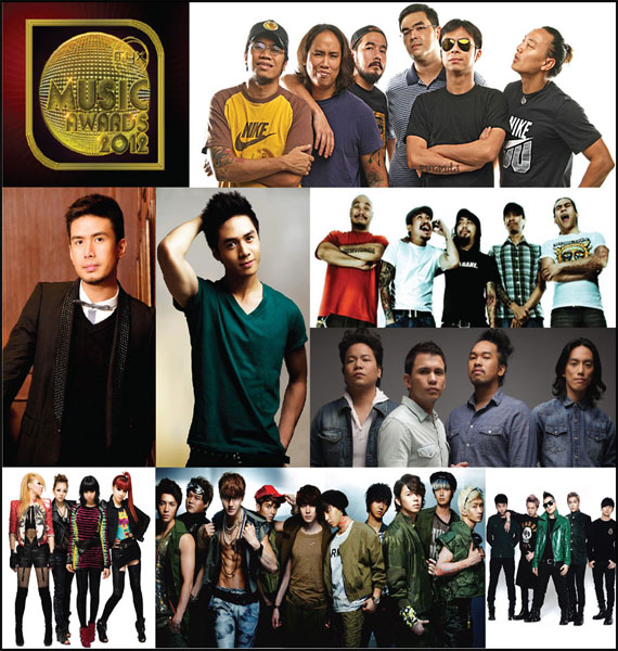 2012 MYX Music Awards Nominees