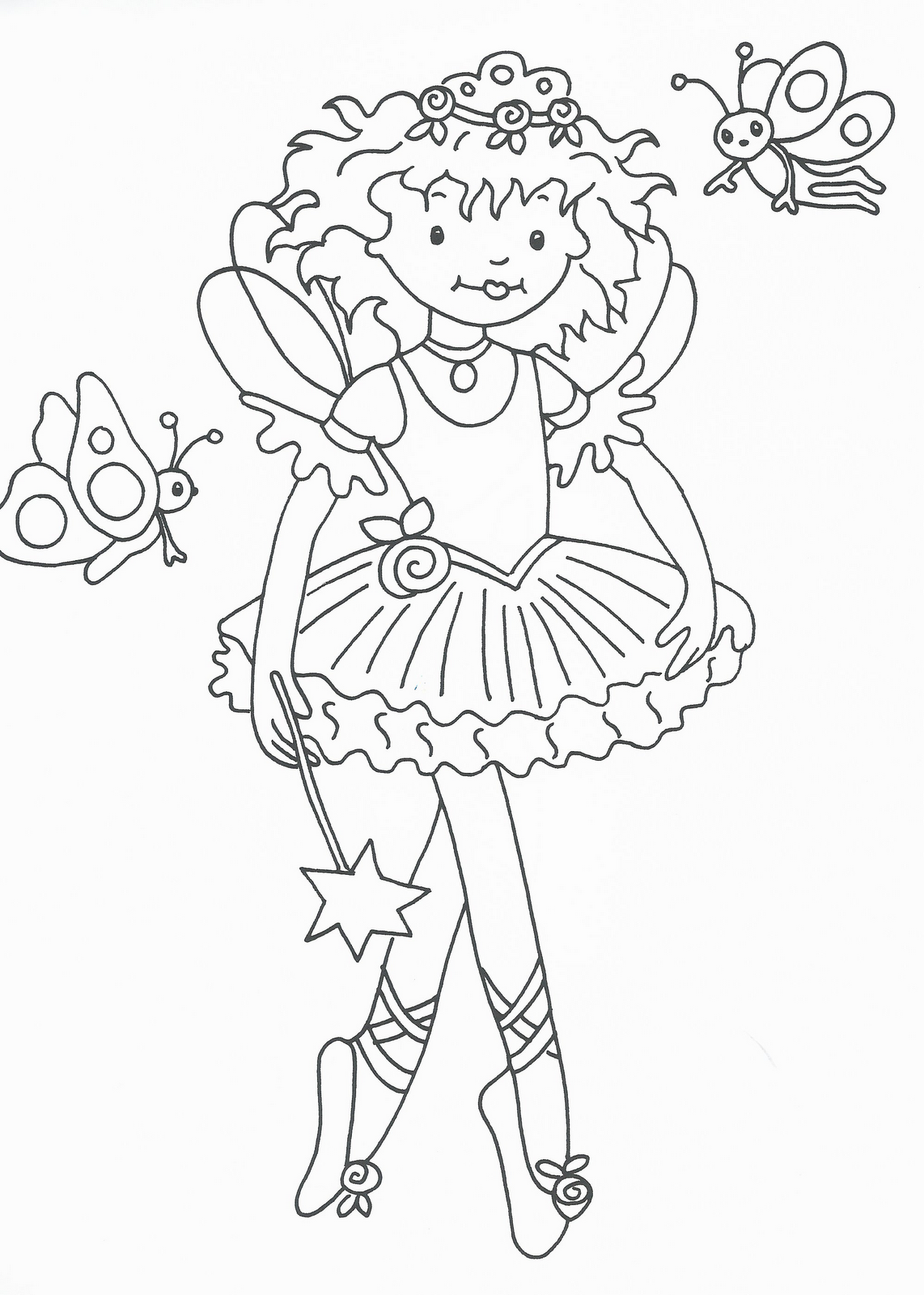 Disegni da colorare principesse e ballerine for Disegni di lupi da stampare
