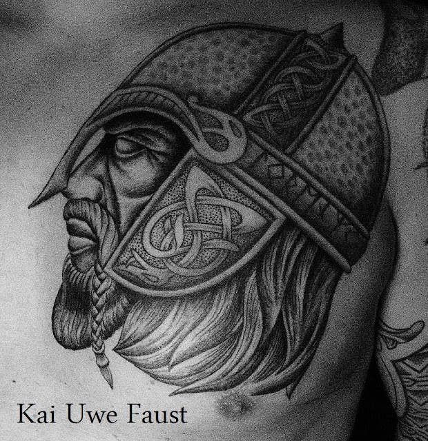 ... warrior is inspired by viking helmets and helmets of Anglo Saxon