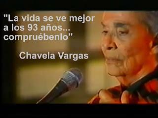 """""""La vida es mejor a los 93 años... Compruébenlo"""" Chavela Vargas"""