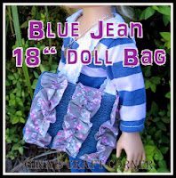 "Blue Jean Ruffle Bag for 18"" Dolls"