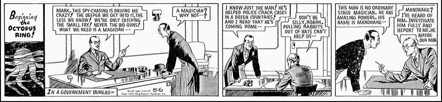 magician Comic mandr strip
