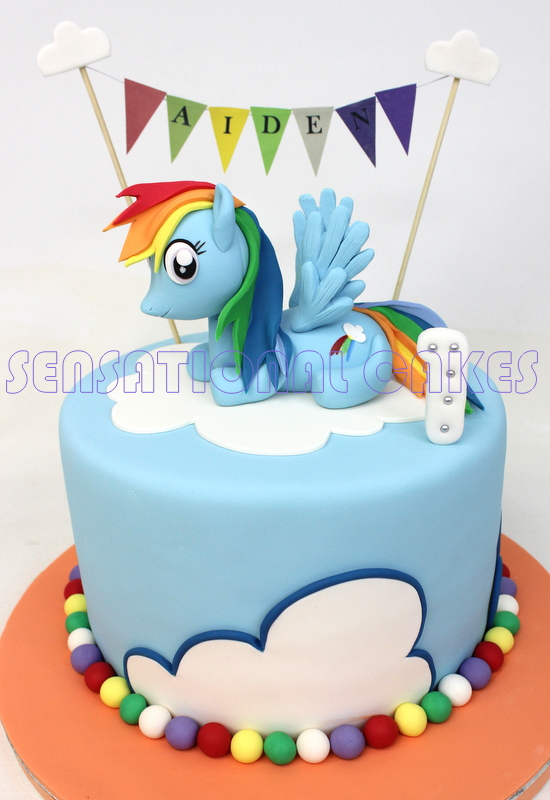 The Sensational Cakes MY LITTLE PONY 3D CAKE SINGAPORE BEST SUGAR