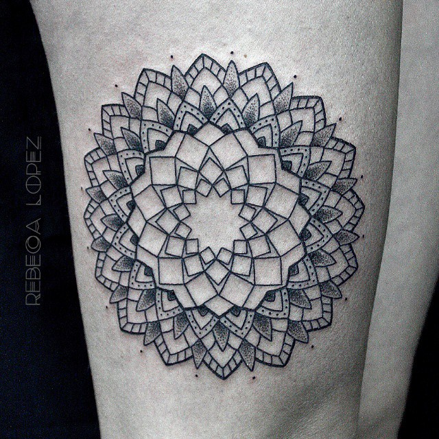 Mandala tattoo by Rebeca Lopez