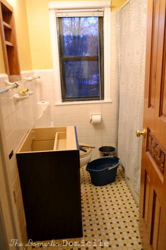 Installing The Bathroom Vanity The Domestic Domicile