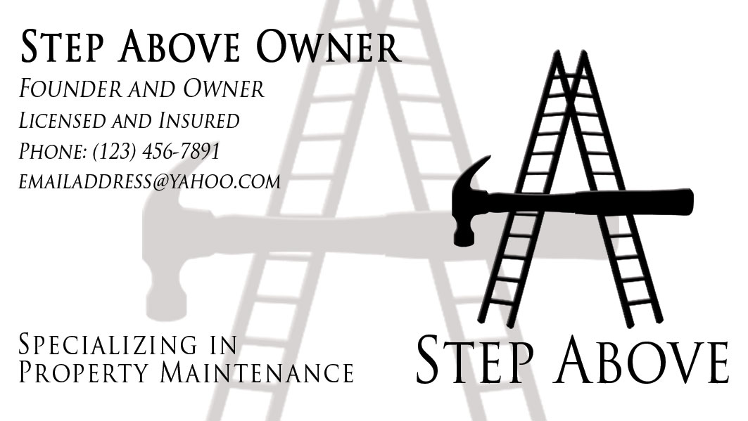 A Step Above Handyman - Business Logo and Card | David Staats