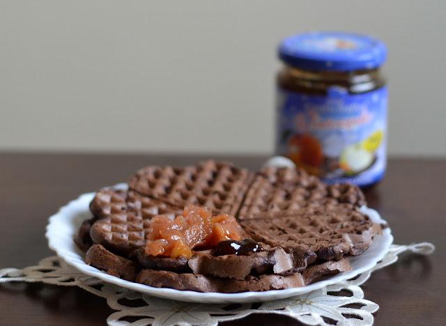 wegańskie gofry czekoladowe