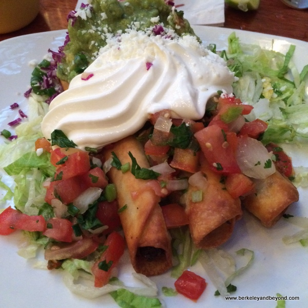 flautas at Miguel's Cocina at El Cordova Hotel on Coronado Island, California