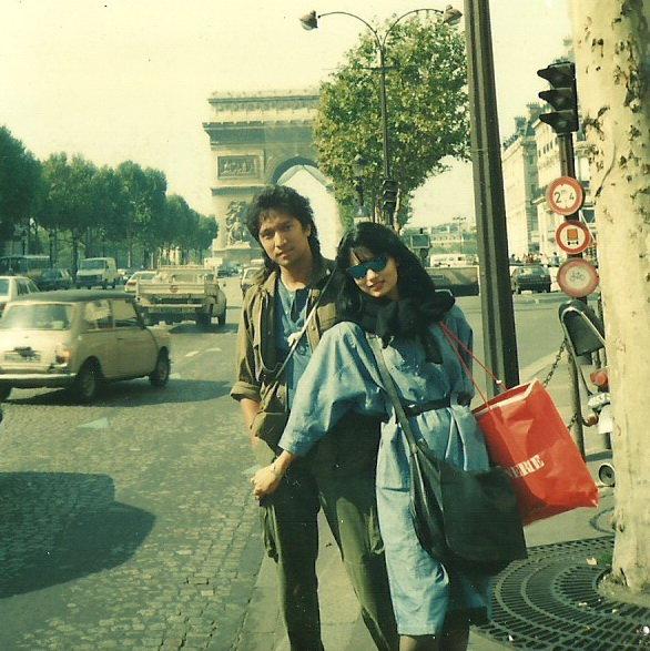 Ikang Fawzi & Marissa Haque, Sept 1986 di Paris, Perancis