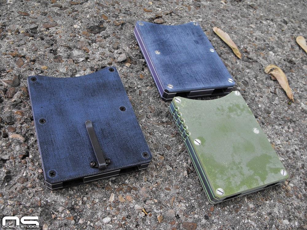 homemade micarta wallets front pocket card holder