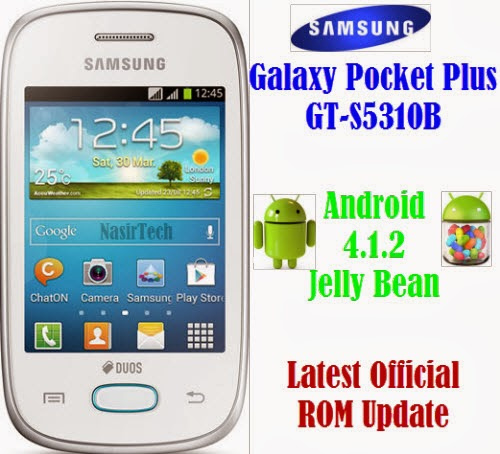 S5310BVJAMJ2 Android 4.1.2 Jelly Bean Firmware for Galaxy Pocket Plus