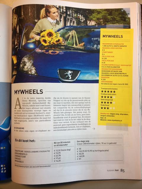 Het artikel MyWheels en autodelen in de Elsevier