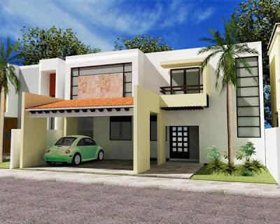Fachadas de casas modernas fachada de casa moderna estilo for Fachadas de casas estilo contemporaneo