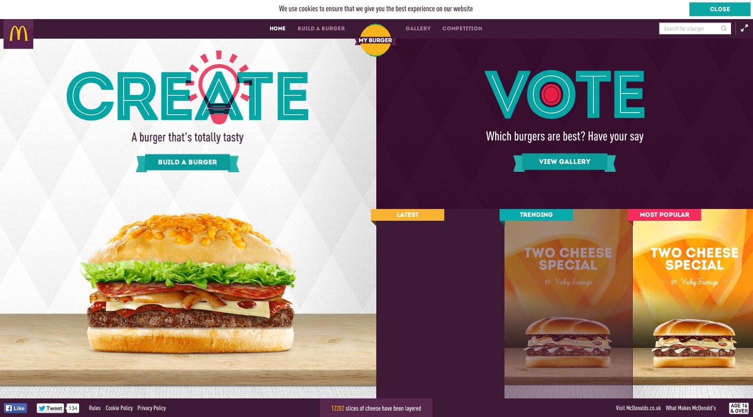iscomigoo recettes burger macdonald UK concours