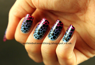 polka dot gradient nails