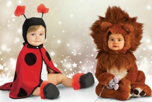 gambar bayi memakai kostum singa dan lebah