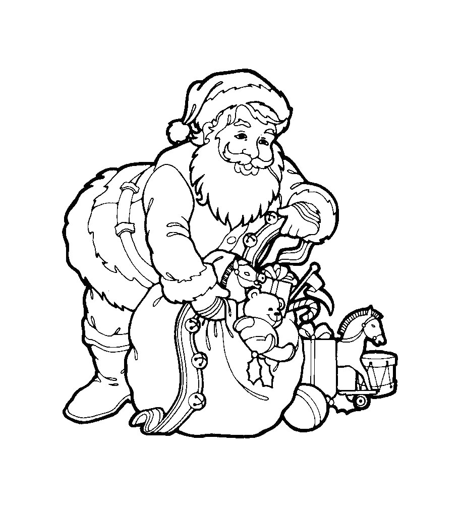 Kids Under 7: Santa Claus Coloring Pages