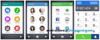 tampilan Wiser Launcher Android Sederhana yang Menarik
