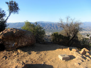 View north from Mount Bell, Griffith Park