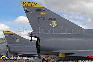 Avión de Combate IAI Kfir C-10 de la Fuerza Aérea Colombiana
