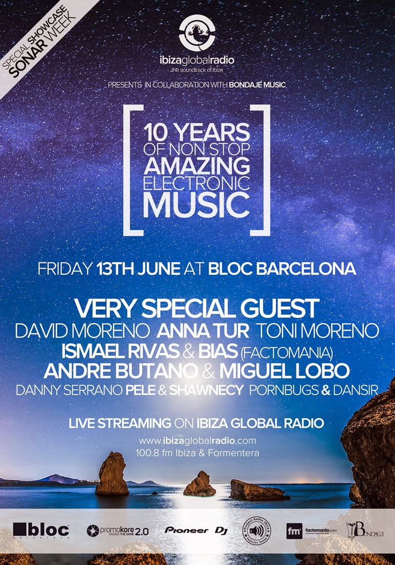 ibiza global radio, barcelona, radio, ten years, sala bloc barcelona
